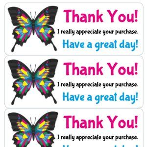 Other - Thank You Stickers 90 XL Labels Card Tag Sticker